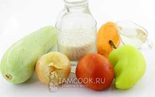 Рагу с рисом и овощами