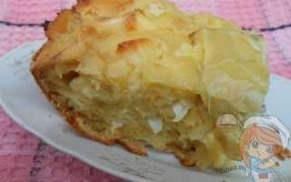 Пирог с капустой и брынзой