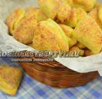 Рецепт творожного печенья ушки с фото