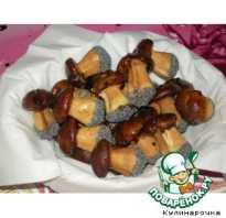 Рецепты печенья грибочки в форме на газу