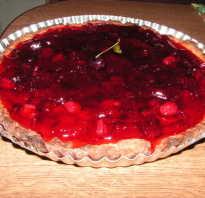 Пирог с малиной в желе