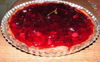 Пирог с малиновым желе