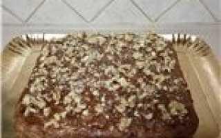 Пирог белочка с орехами