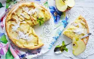 Пирог с яблоками калории