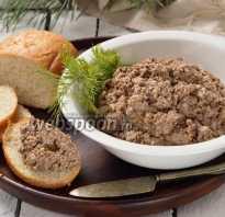 Печеночный паштет с грибами рецепт