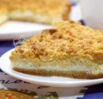 Рецепты песочного пирога с творогом