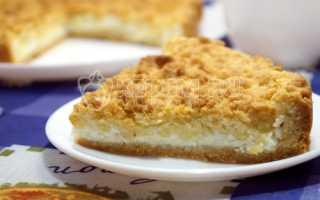 Рецепт творожного пирога с песочным тестом