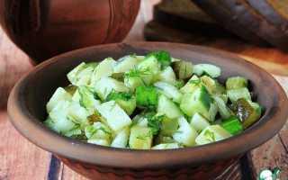 Рецепт салата из картошки и огурцов