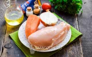 Подливка из куриной грудки с томатной пастой