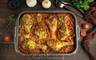 Приготовить курицу с гречкой вкусно в духовке