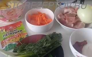 Рагу из свинины с картошкой в мультиварке