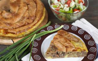Пирог с мясом калорийность на 100 грамм
