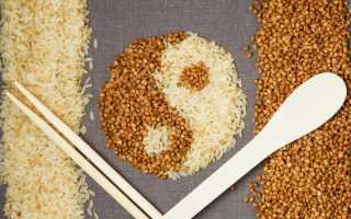 Рис с гречкой и мясом