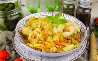 Рецепт курица с капустой в рукаве