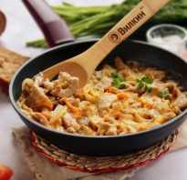 Рецепт свинины в сметанном соусе на сковороде