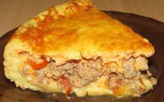 Пирог с фаршем и картофельным пюре