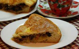 Пироги с квашеной капустой и грибами