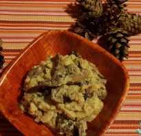Рецепт жареных грибов с картошкой в сметане