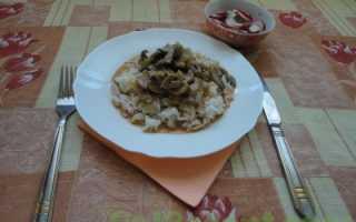Рис с грибами калорийность
