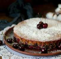 Пирог с вишней на маргарине