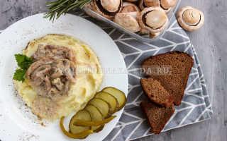 Рецепт свинина с шампиньонами и сметаной