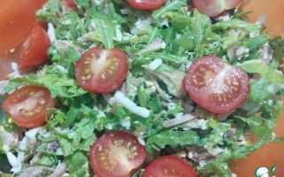 Рецепт салата с курицей и рукколой