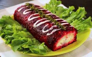Рецепт салата селедка под шубой рулетом