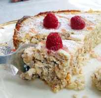 Пирог из гречки с творогом
