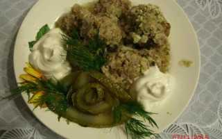 Рецепт ежиков с капустой и рисом