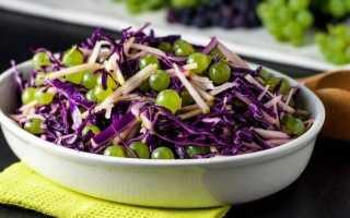 Простой салат из краснокочанной капусты