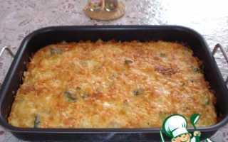 Пирог из брокколи и цветной капусты