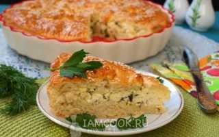 Пирог с адыгейским сыром рецепт с фото