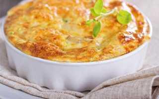 Рецепт запеканки из яиц и молока
