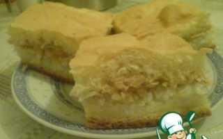 Пирог с рисом и лососем