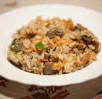 Рис с печенью свиной
