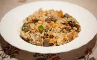 Печень с рисом рецепт пошагово