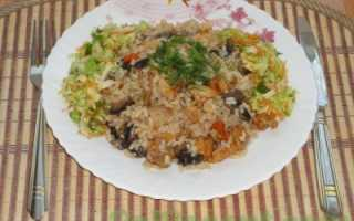 Рис с курицей и грибами рецепт