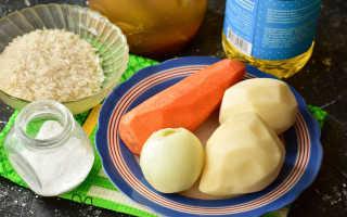 Рассольник с рисом постный рецепт