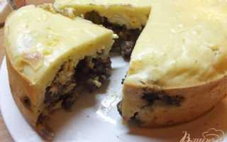 Пирог с сердцем и печенью