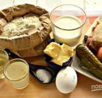 Пирог с фаршем и солеными огурцами