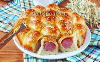 Рецепт пирога с сосисками в духовке