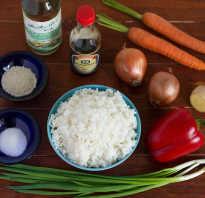 Рис с овощами как в японском ресторане