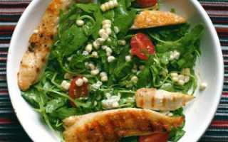 Рецепт салата с рукколой и куриной грудкой