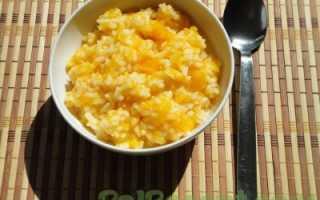 Рецепт рисовой каши с тыквой на воде