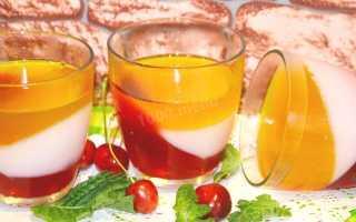 Рецепт трехслойного желе со сметаной