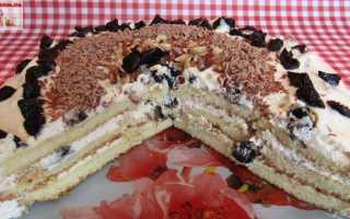 Пирог с черносливом и сгущенкой