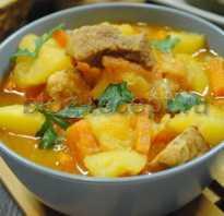 Рагу со свининой и картофелем и овощами