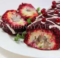 Рецепт салата сельдь под шубой рулетом