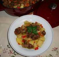 Рецепт мясного рагу с картошкой