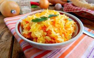 Рассыпчатый рис с морковкой и луком